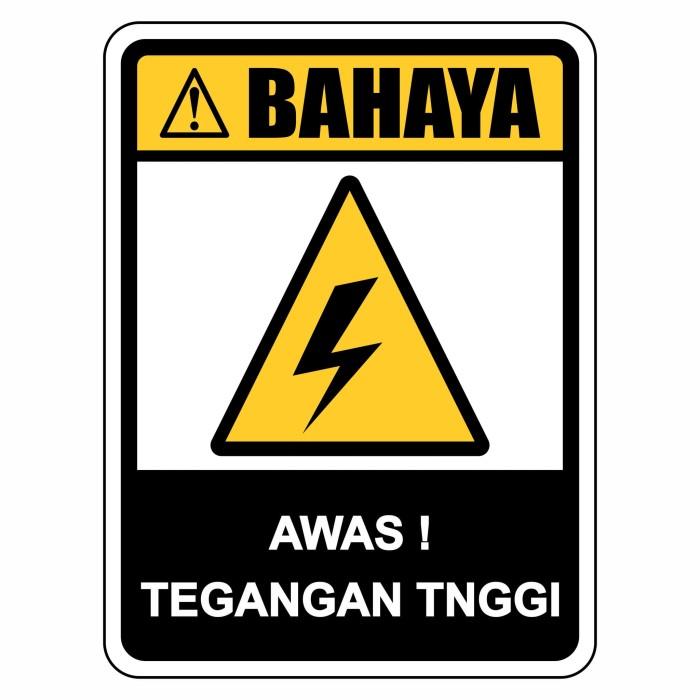 Jual Rambu K3 Bahaya Listrik Tegangan Tinggi 45cm X 60cm Plat Alumunium Kota Bandung Azkami Toserba Tokopedia