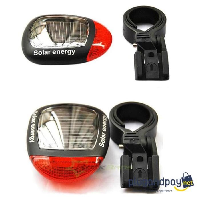 Foto Produk Solar Bicyle Taillight Lampu Belakang Sepeda Tenaga Matahari Solar Cel dari plugandpay