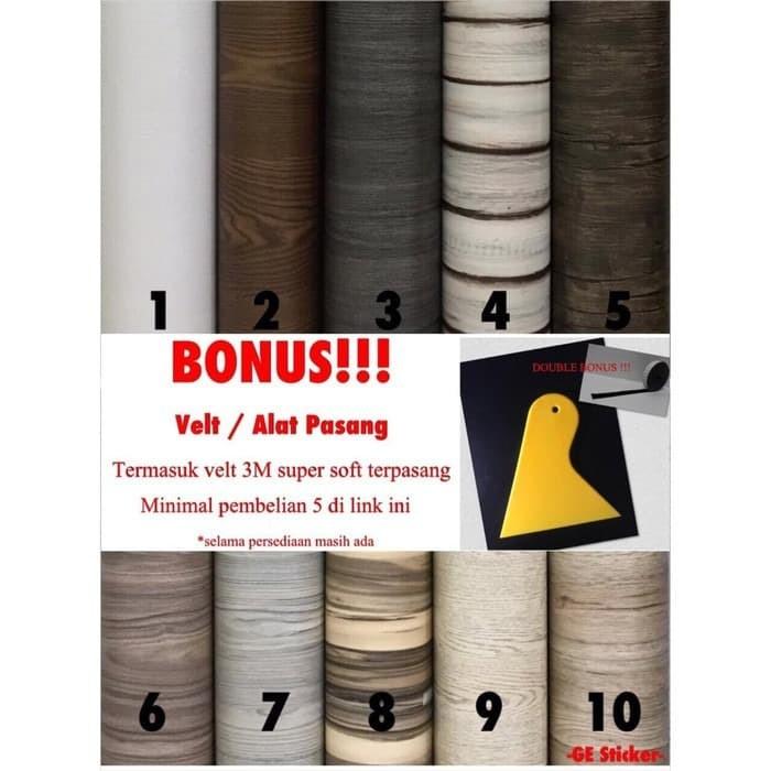 Foto Produk NEW!! STIKER / STICKER MOTIF KAYU - serat, lebar 124cm (50cmx124cm) dari GE Sticker