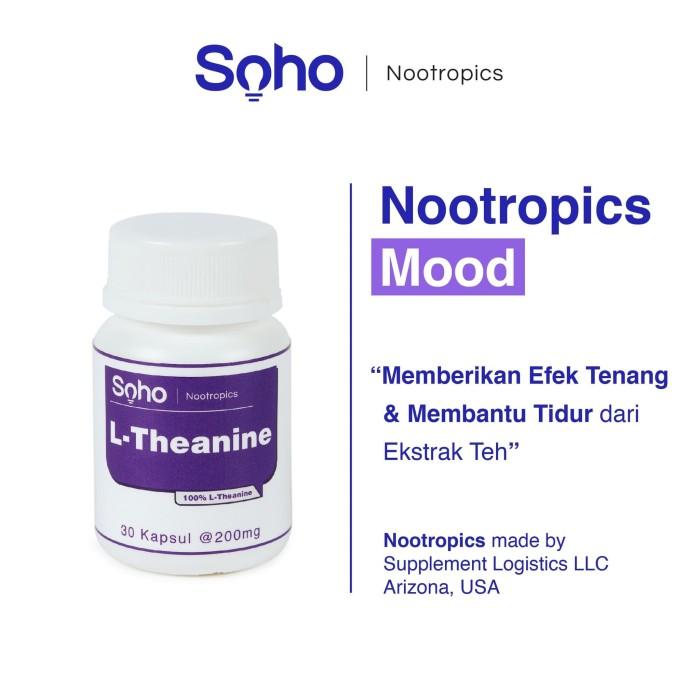 Foto Produk L-Theanine 30 Kapsul|Mengurangi Stress, Gelisah & Tenang|Nootropics dari soho electronic
