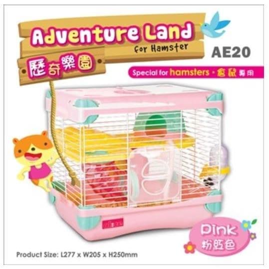 Foto Produk AE20 Alice Adventure Land for Hamster Pink Kandang Jeruji 2 Lantai dari Hime petshop