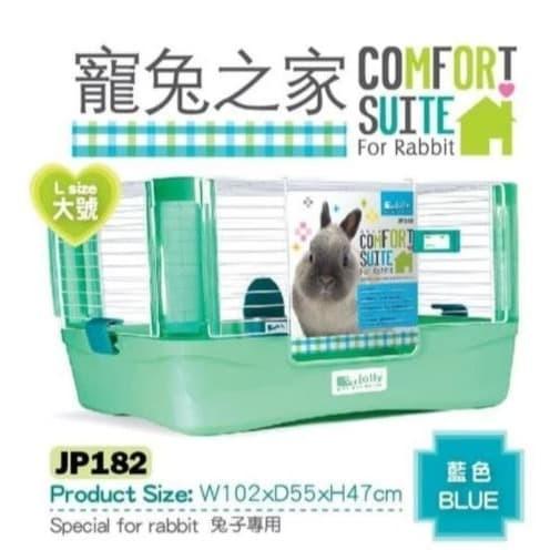 Foto Produk JP182 Jolly Comfort Suite for Rabbit Blue Green Large Kandang Kelinci dari Hime petshop