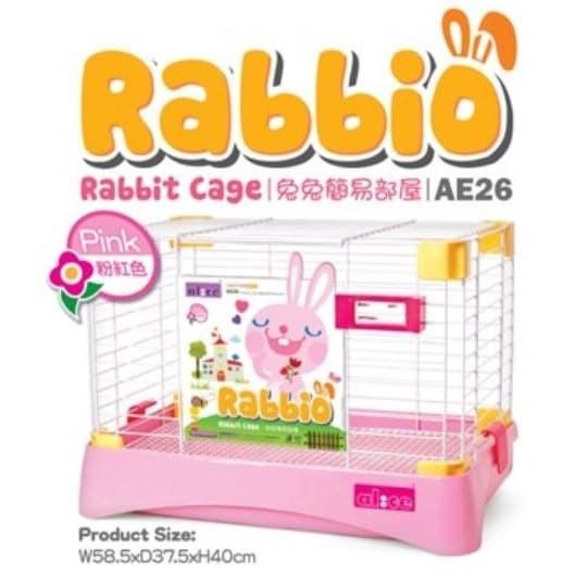 Foto Produk AE26 Alice Rabbio Rabbit Cage Pink Kandang Kelinci Marmut Guinea Pig dari Hime petshop