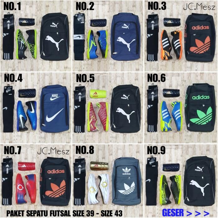 Foto Produk Paket Komplit Sepatu Futsal Lengkap Dengan Tas Dekker Kaoskaki Murah dari JC.Mesz Store