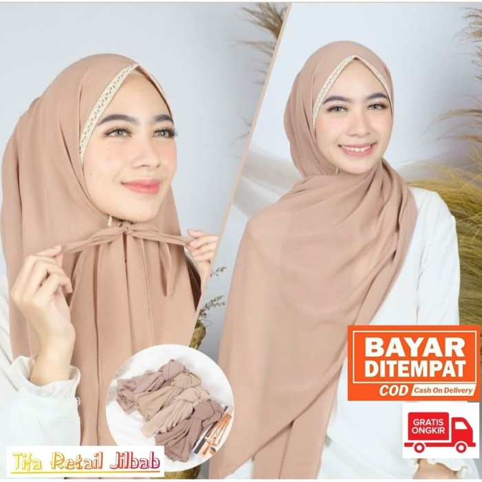 Jual Jilbab Pashmina Tali Renda Diamond Kerudung Wanita 75 X 150 Cm Dusty Pink Kota Semarang Dunia Jilbab Tifa Tokopedia