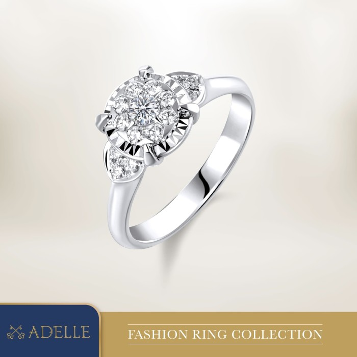 Foto Produk Cincin Berlian Adelle Jewellery - Diamond Ring - 3R067-1_EP - White Gold, 5-15 dari Adelle Jewellery