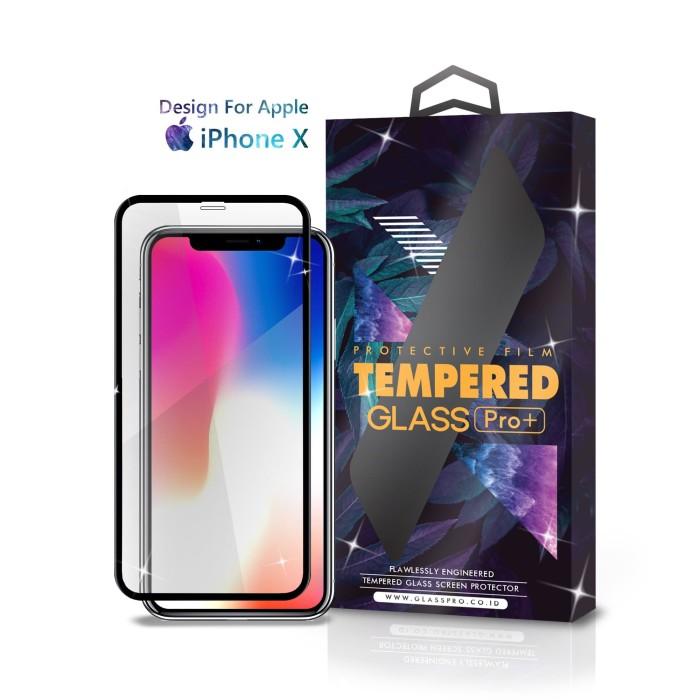 Foto Produk Tempered Glass iPhone X Full Cover Black - Premium Glass Pro dari Glass Pro Indonesia