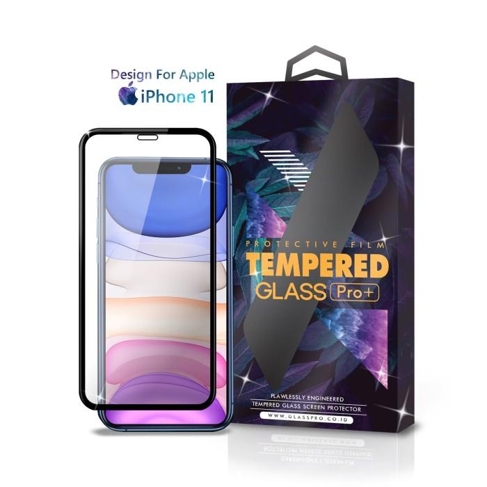 Foto Produk Tempered Glass iPhone 11 Full Cover Black - Premium Glass Pro dari Glass Pro Indonesia