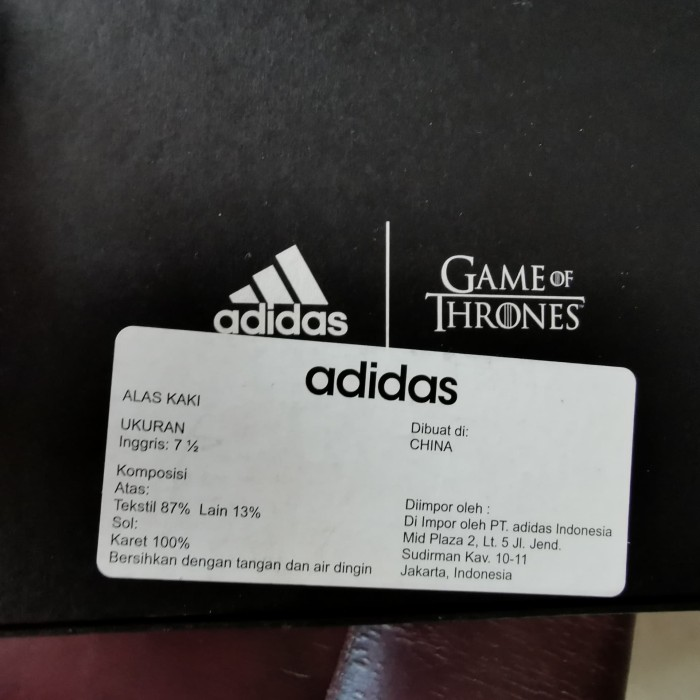 Foto Produk Sepatu Adidas Original Game of Throne House of Stark dari IndoWebstorecom