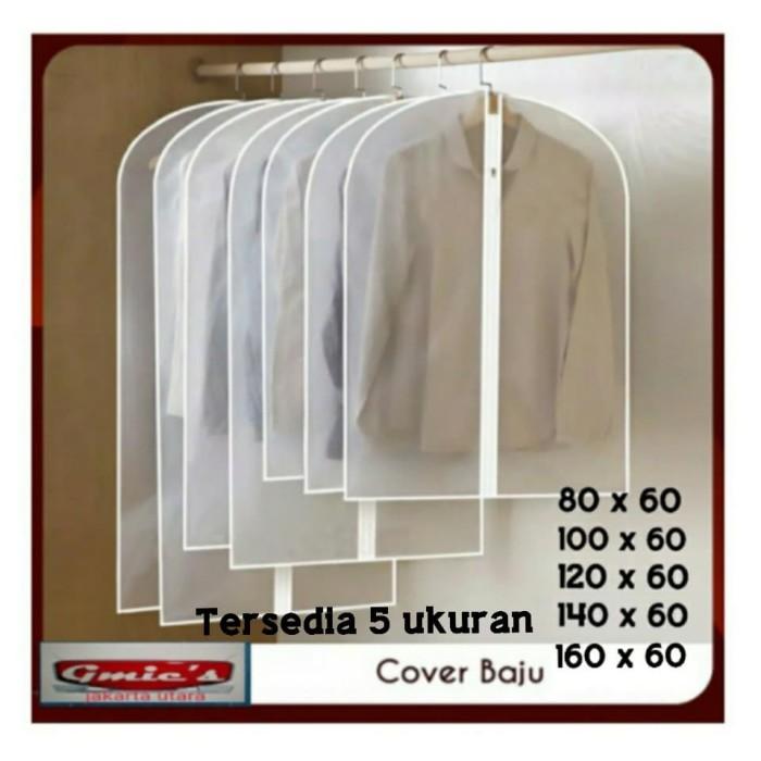 Foto Produk Cover baju jas gaun PEVA anti air , Pelindung baju jas gaun anti debu - 80 X 60 dari GMic's Shop