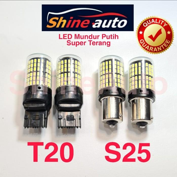 Foto Produk LED LAMPU MUNDUR PUTIH T20 S25 SUPER TERANG - S25 BULAT PUTAR dari ShineAuto