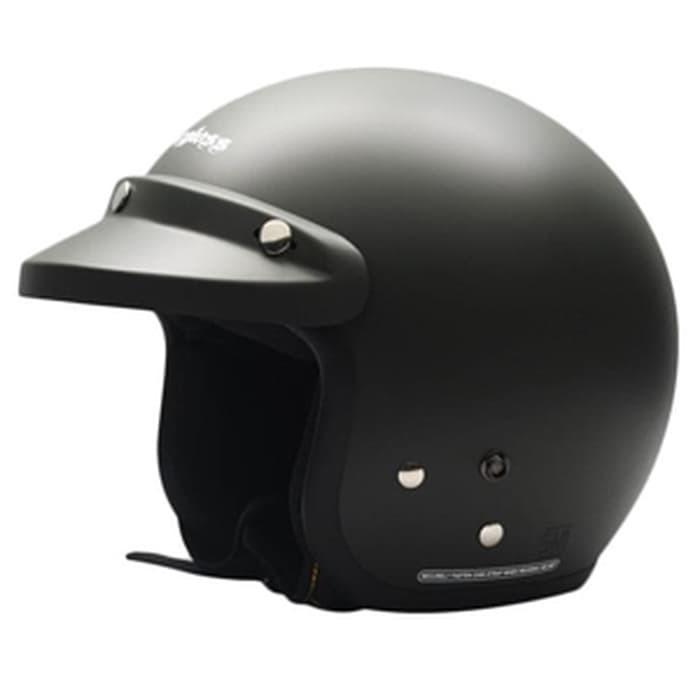 Foto Produk Helm Cargloss CF Retro Army Black Doff - Hitam, SIZE L dari Helm Cargloss