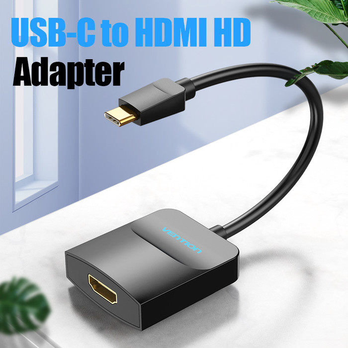 Foto Produk Vention USB C Type C To HDMi Display Adapter Converter - TDC - Abs Shell dari SinShe-Tekno