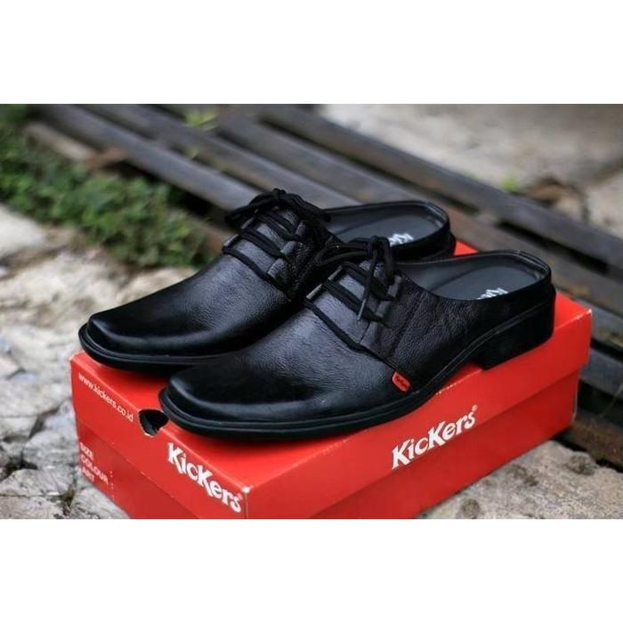 Foto Produk sepatu slip on sepatu kerja sepatu pria sepatu kickers bustong hitam04 - 39, Hitam dari ProvideShoes
