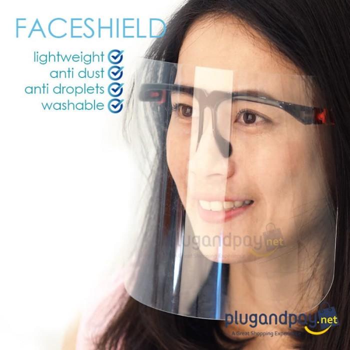 Foto Produk Face Shield Kacamata Nagita frame hitam dari plugandpay