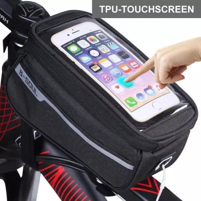 Foto Produk TAS FRAME HOLDER HANDPHONE DI SEPEDA S/D 6,3 INCH MEREK B-SOUL dari Bro & Sis Jakarta