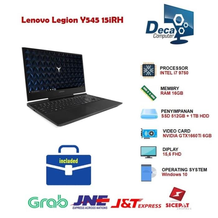Foto Produk Lenovo Legion Y545 15iRH i7-9750H RAM 16GB 512GBSSD-1TB GTX1660Ti 6GB dari Deca Computer