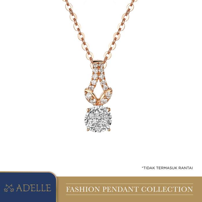 Foto Produk Diamond Pendant - Liontin Berlian Adelle Jewellery - DPJ5725R01WH_EPAR - Rose Gold dari Adelle Jewellery