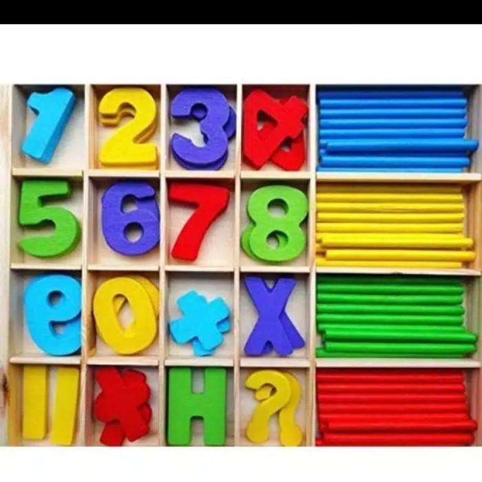 Foto Produk Mainan edukasi anak Stick hitung dan Angka/Counting Box dari AUTO KID II
