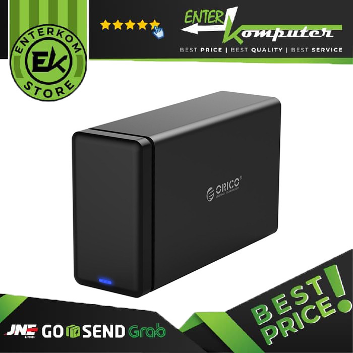 Foto Produk Orico NS200RU3 2 Bay USB 3.0 Hard Drive Dock with Raid dari Enter Komputer Official