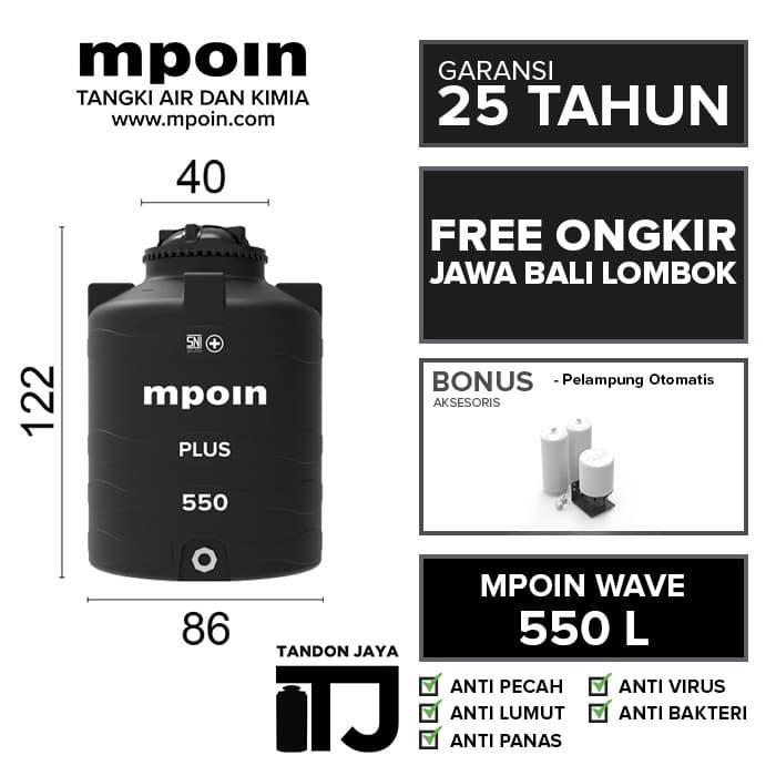 Foto Produk TANDON AIR MPOIN WAVE 550 L SNI ANTI VIRUS & ANTI LUMUT GARANSI 25 TH dari TANDON JAYA
