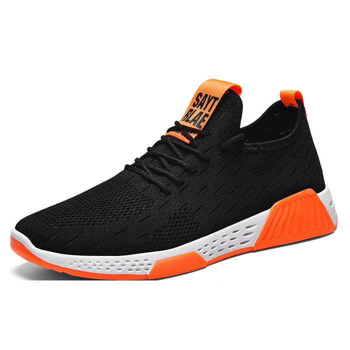 Foto Produk Techdoo Sepatu Pria Olahraga Running Sepatu Sneakers Pria MR104 - Orange Hitam, 44 dari Techdoo