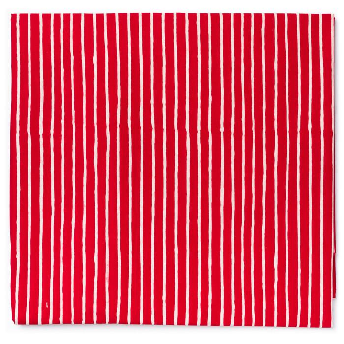 Foto Produk Kain Batik Cap Garutan Motif Garis Kecil - Merah dari Kainusa