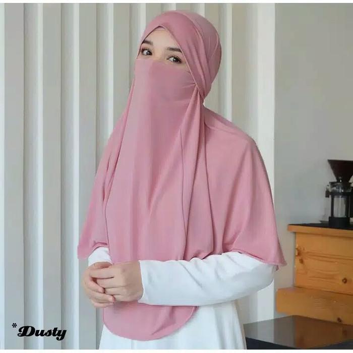 Jual French Khimar 2 In 1 Khimar Cadar Standar Jersey Putih Jakarta Barat Syafany Hijab Official Tokopedia