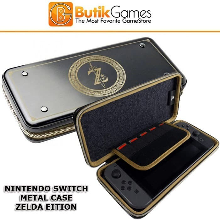 Foto Produk Case Tas Nintendo Switch Metal Alumi Aluminium Metal Zelda Edition 014 dari Butikgames