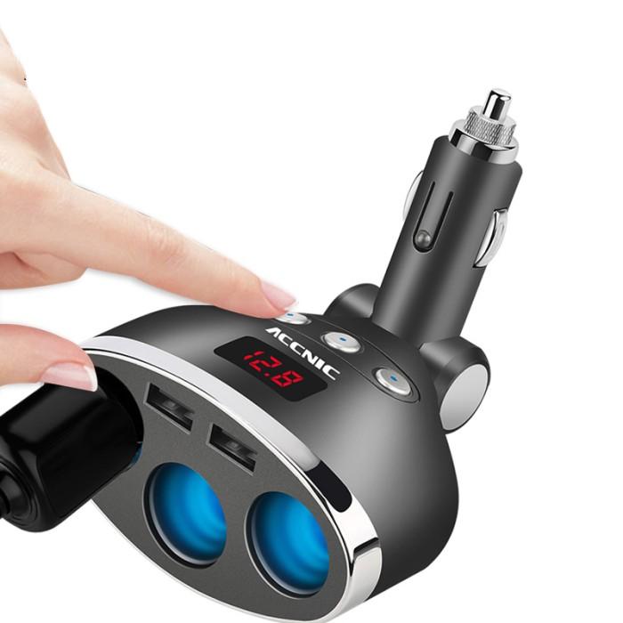 Foto Produk garansi... ACCNIC 3 in 1 Dual USB Car Charger C igarette L ig dari Rumah Cantik Hilwa