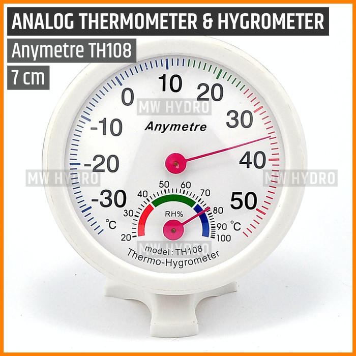Foto Produk Anymetre TH108 Original, Analog Thermometer Hygrometer, 7 cm dari MW Hydro