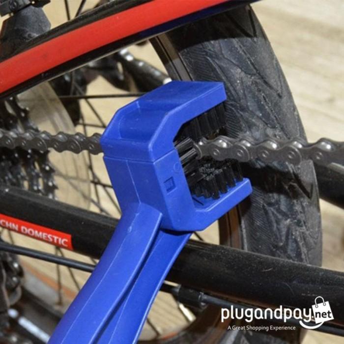 Foto Produk Pembersih Rantai Sepeda Gearset Sproket Chainring U Shape dari plugandpay