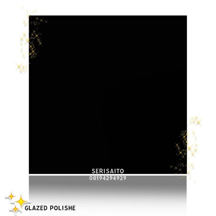 Foto Produk Granit Absolute Black 60x60 / Hitam Polos Kilap 60 x 60 Granit Lantai dari serisaito
