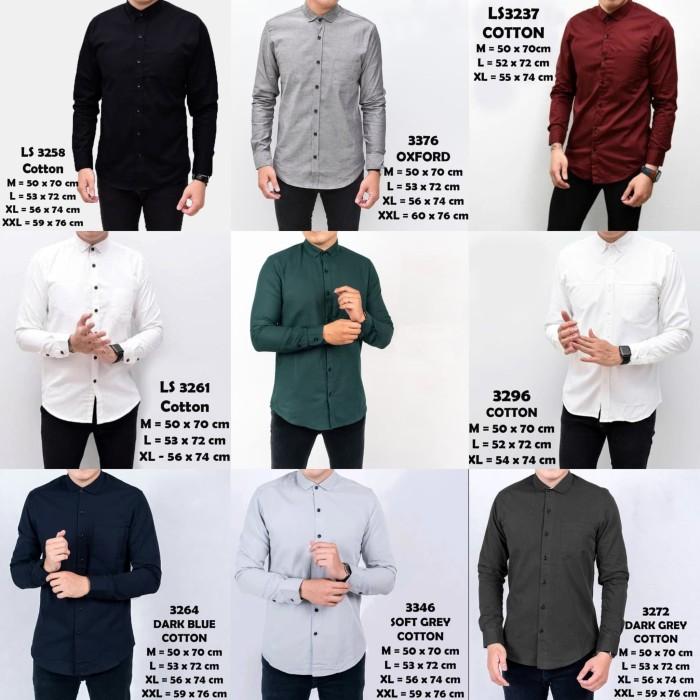 Foto Produk Kemeja Pria Lengan Panjang Casual BIG Size - Putih, XXL dari Virtual Custom Clothing