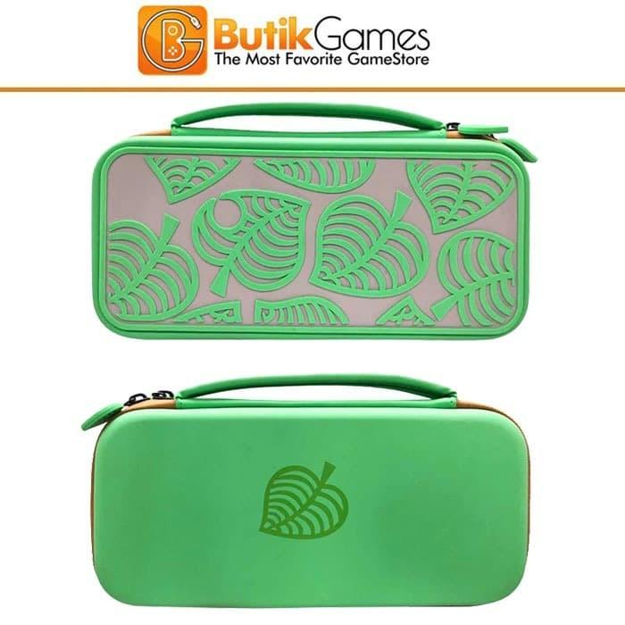 Foto Produk Tas Case Storage Bag Nintendo Switch Animals Crossing Green Hijau 03 dari Butikgames