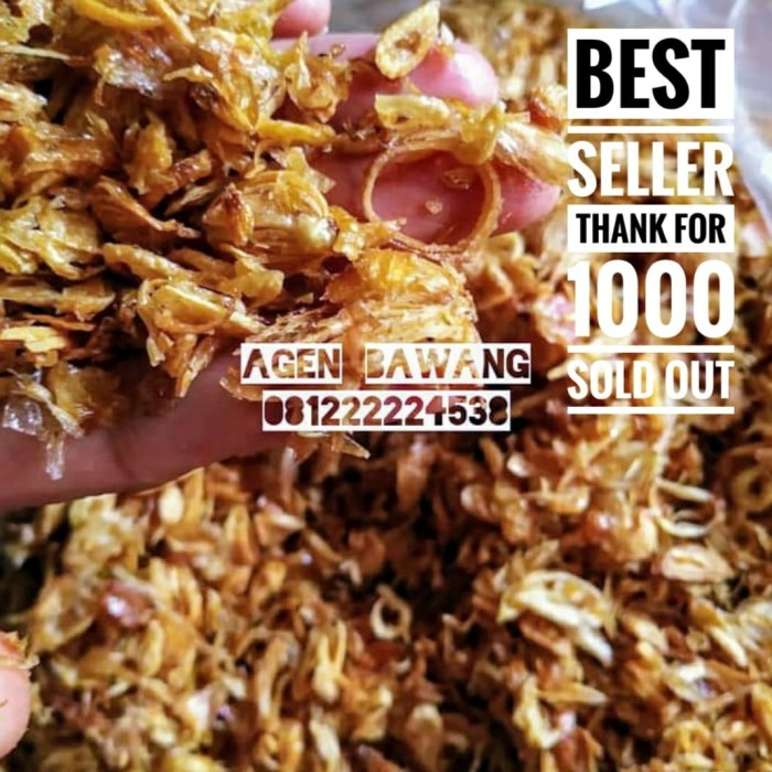 Foto Produk bawang goreng 1 kg dari yogo hellfire