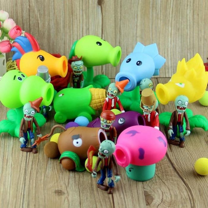 Foto Produk Plant vs Zombie Mainan Anak Tembak Plants Zombies Mainan Boneka Anak dari Acc Perhiasan