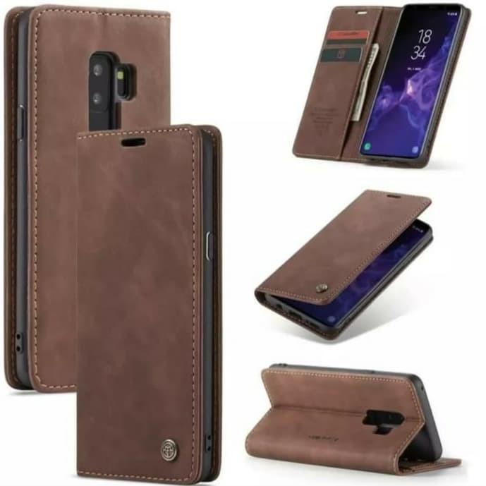 Foto Produk Samsung galaxy S9 plus Flip Case Caseme Cover Leather Wallet Dompet - Hitam dari Vinvend ACC