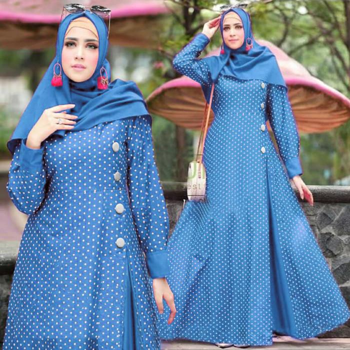 Foto Produk [GAMIS MAYRA (TANPA PASHMINA) FT]Ghamis wanita katun varian warna - Biru dari FASHIONISTA's GROSIR