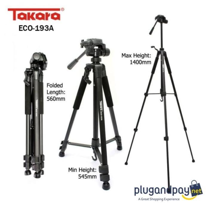 Foto Produk Tripod Kamera DSLR Mirrorless Handphone Smartphone Takara 193A dari plugandpay