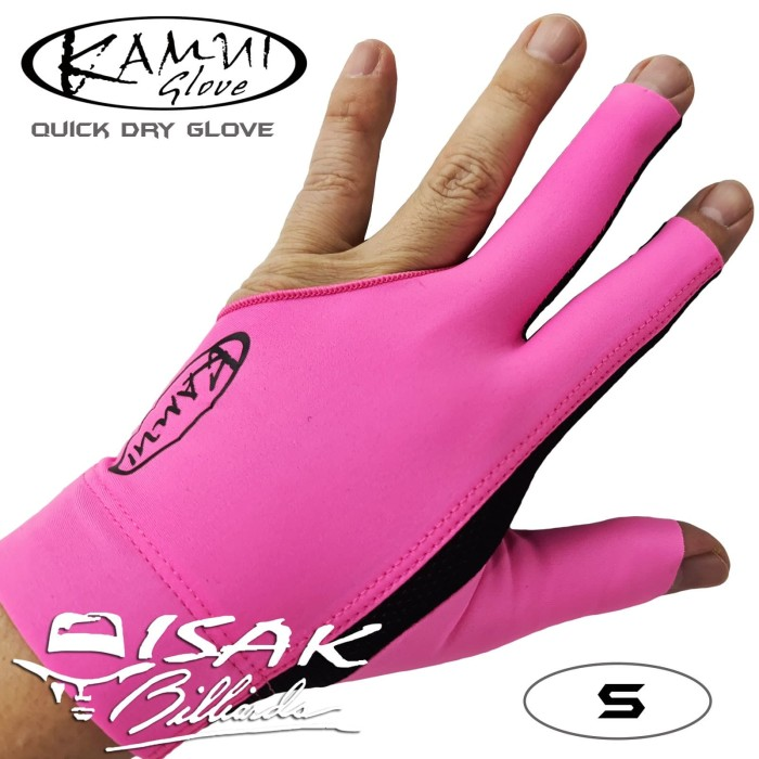 Foto Produk Kamui Glove Pink S - Left Hand Small Sarung Tangan Pool Billiard Asli dari ISAK Billiard Sport Co.