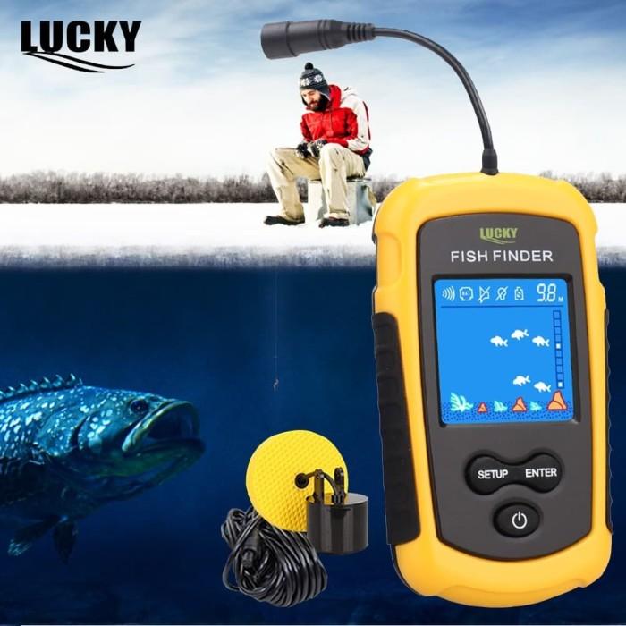 Foto Produk Fish Finder Berwarna Lucky Color Pencari Ikan FFC1108 Sonar Locator dari HRDIK