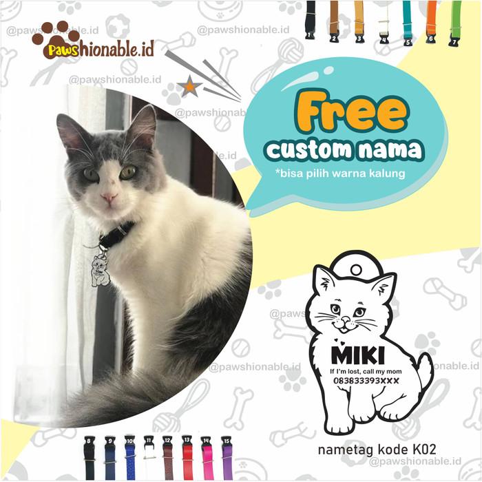 Jual K02 Kalung Custom Nama Kucing Free Lonceng Aksessoris Kucing 1 2 X Max 28 Cm Kab Nganjuk Kalungkucing Tokopedia