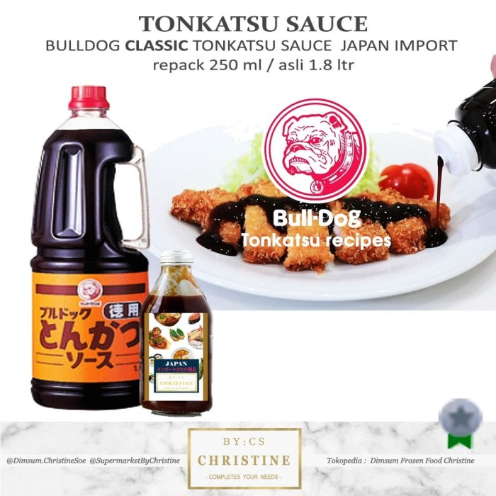 Jual Tonkatsu Sauce Bulldog Tonkatsu Saus Bull Dog Katsu Sauce Classic 250 Jakarta Utara Dimsum Frozen Food Christine Tokopedia
