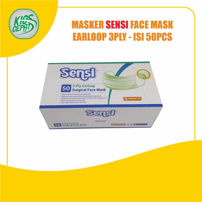 Foto Produk Masker SENSI 3Ply EARLOOP (Surgical Face Mask) isi 50pcs dari KiosCepat
