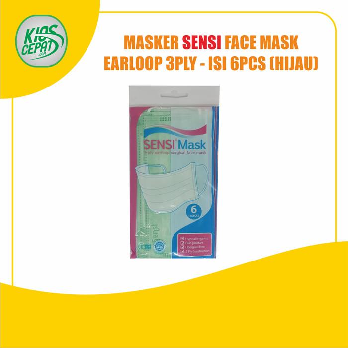 Foto Produk Masker SENSI 3Ply EARLOOP (Surgical Face Mask) isi 6pcs - Hijau dari KiosCepat