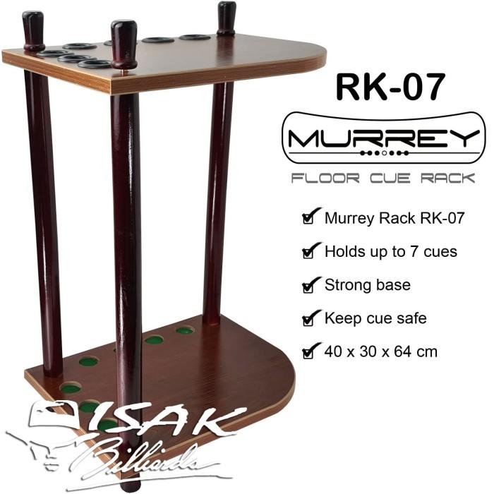 Foto Produk Murrey Floor Cue Rack RK-07 Rak Stick Kayu Sudut Corner Billiard Cues dari ISAK Billiard Sport Co.
