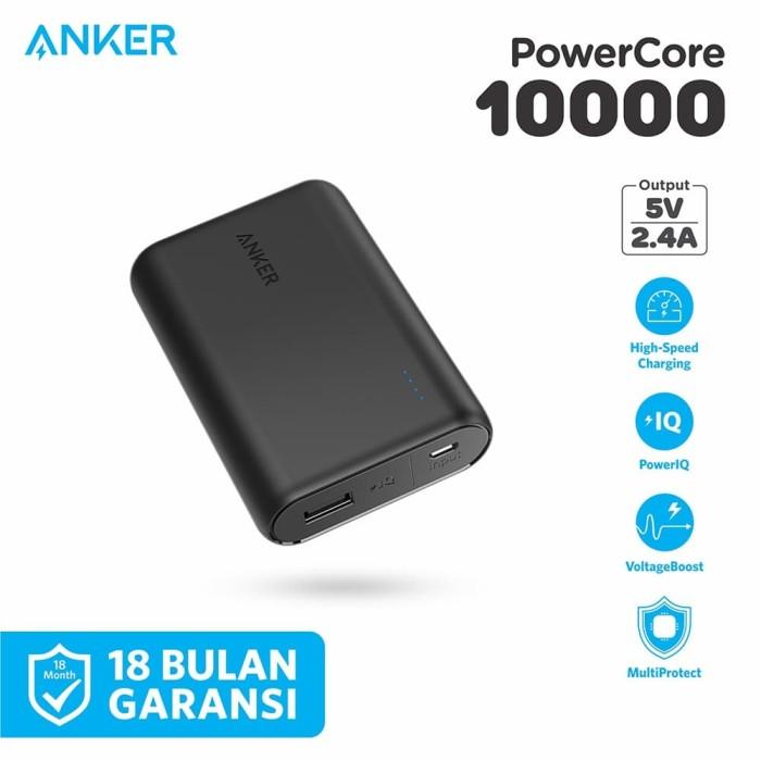 Foto Produk PowerBank Anker PowerCore 10000 mAh Black - A1263 dari Anker Indonesia