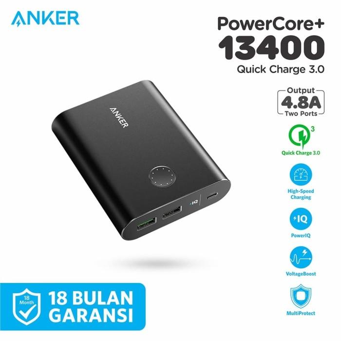 Foto Produk PowerBank Anker PowerCore+ 13400 mAh QC 3.0 Black - A1316 dari Anker Indonesia