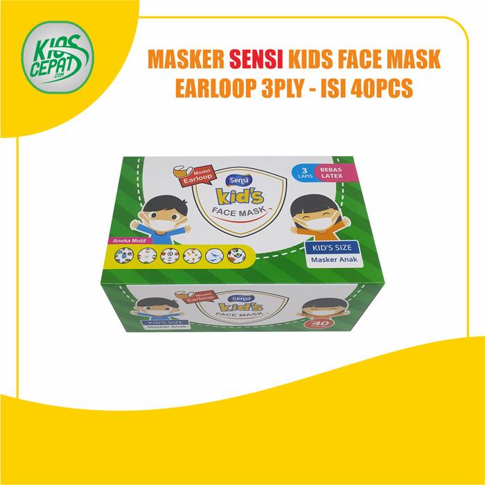 Foto Produk Masker SENSI KIDS - 3Ply EARLOOP Face Mask isi 40pcs dari KiosCepat